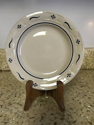 Longaberger Pottery Woven Traditions Salad Plate Ivory Classic Blue Floral 7""