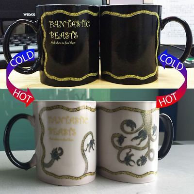 NEW Fantastic Beast Harry Magic Potter Heat Sensitive Color Changing Coffee Mug