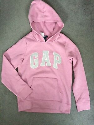Gap - Light Pink Hoodie With Grey Logo & Soft Fleece Hood & Interior - Bnwt