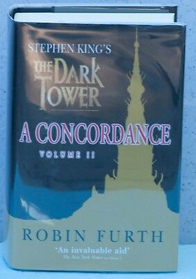 Stephen King's The Dark Tower: A Concordance Vol 2- signed card-UK (Item C1154)