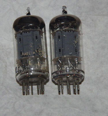 2x Telefunken ECC82 - perfect matched pair  - test very strong