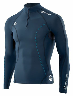 Skins DNAmic Thermal Mock Neck With Zip Top Mens Unisex Thermal Base Layer