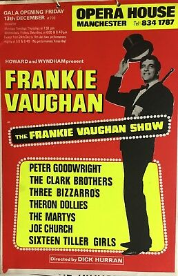 Frankie Vaughan, rare box office card, Manchester Opera House 1960s