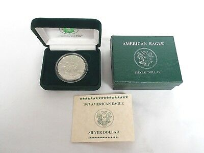 1997 American Eagle Silver Dollar $1 Uncirculated Coin 1oz .999 Fine Silver