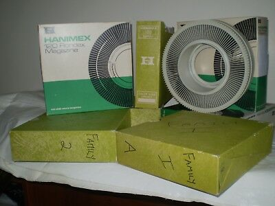 35mm Slide Holders.  Hanimex Rondex  No Spill  Rotary  Holders.   Lot of  Six