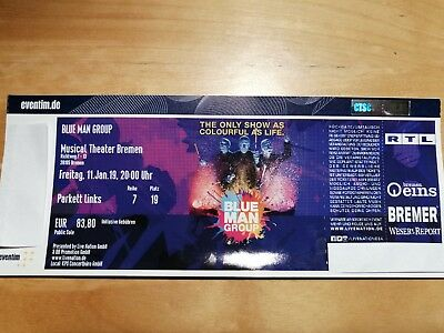 Blue Man Group Bremen Ticket 11.01.2019