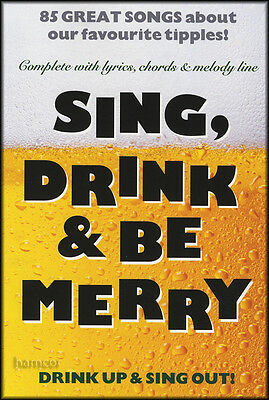 Sing Drink & Be Merry Lyrics, Melody & Chords Songbook C Instruments Keyboard