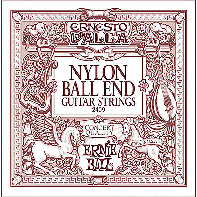 Ernie Ball 2409 Palla Nylon Classical Black & Gold Ball End Guitar Strings 28-42