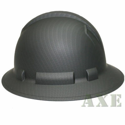 Pyramex Ridgeline Safety Hard Hat Graphite Pattern Black Full Brim  HP54117