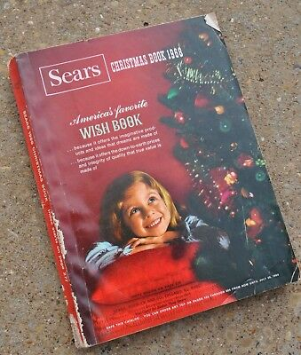Vintage 1968 Sears Christmas Catalog Wish Book 605 PAGES GOOD CONDITION