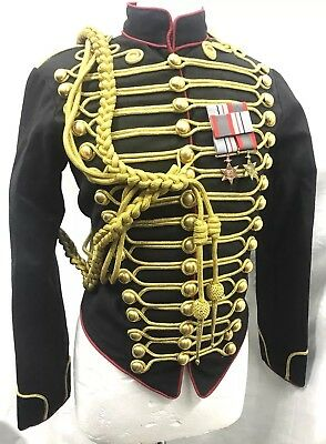 """Girls Officers Hussar Black/Red Jacket In Chest Size 36"""",38""""40"""""""