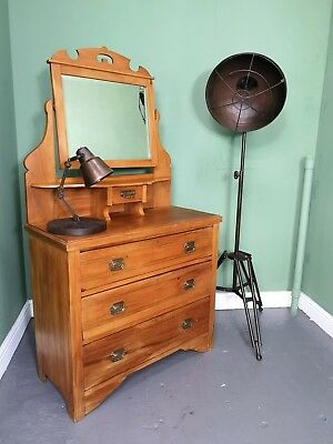 An Antique Edwardian Solid Satinwood Dressing Chest ~Delivery Available~