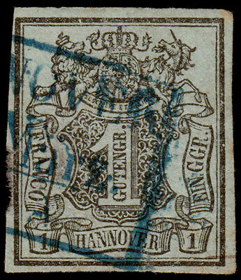 Germany - Hanover Scott 2 (1851) Used H F-VF, CV $9.00 C