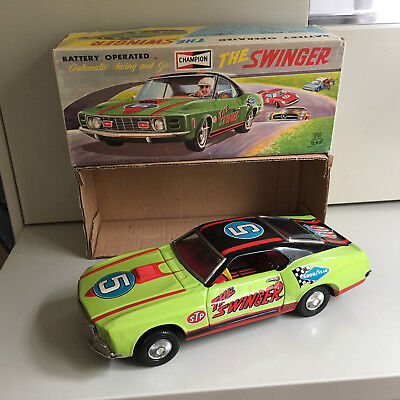 Tps Tin Ford Mustang Mach 1 The Swinger W/box & Fully Working As Designed T.p.s.
