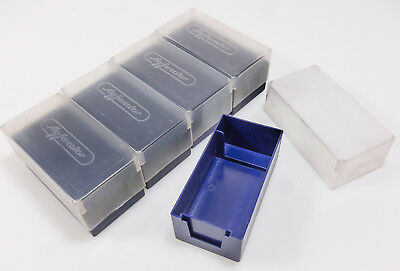 Agfacolor Blue Slide boxes  hold 36-42 mounted 35mm slides x5 boxes