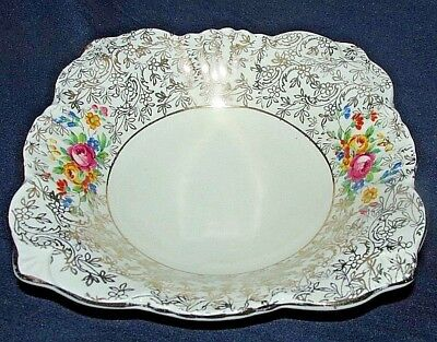 Antique Sweet Soup Bowl Dish Floral & Chintz Porcelain Made in England 14CmW