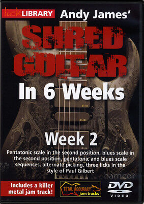 Andy James Shred Guitar in 6 Weeks DVD 2 Lick Library Paul Gilbert Style
