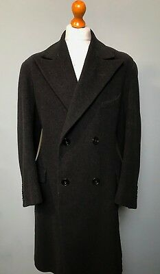 . Vintage grey 1940's double breasted overcoat size 44
