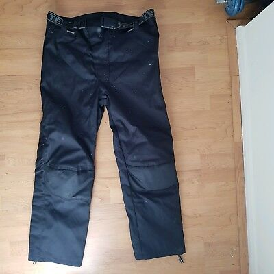 Texpeed Black Waterproof CE Armoured Motorcycle / Motorbike Trousers Size: 38R