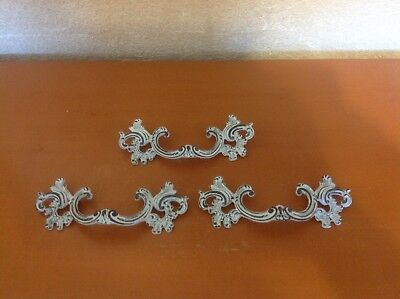 157 VTG French Provincial Handles White Shabby Chic 3 Available