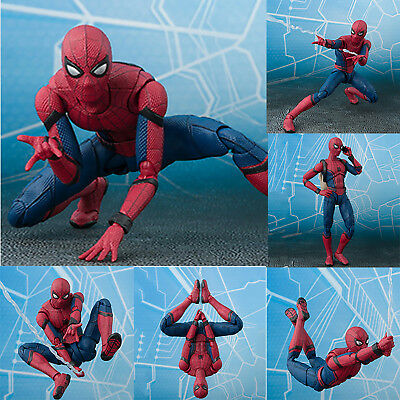 "6"" Gifts for Kids Spider Man Homecoming Spiderman PVC Action Figures Model Toys"