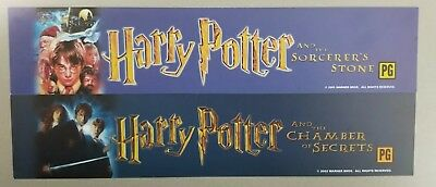 HARRY POTTER Movie Mylar Banner Lot 7 of 8 RARE All Double Sided