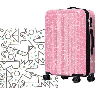 E330 Lock Universal Wheel ABS+PC Travel Suitcase Cabin Luggage 24 Inches W