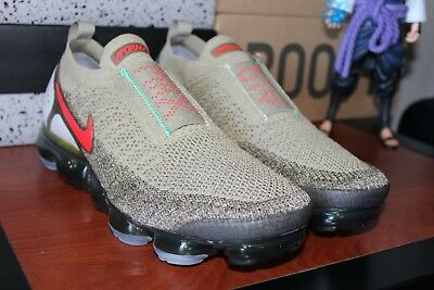 finest selection 6f2e9 adbee NIKE AIR VAPORMAX FK Moc 2 Neutral Olive Red AH7006-200 Men's Sz 10.5, WMNS  12