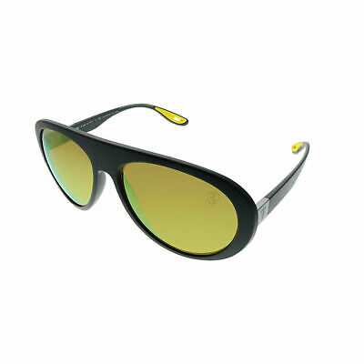 77127bc6ccf Ray-Ban Ferrari Collection RB4310M F6086B Matte Grey Sunglasses Yellow  Polarized