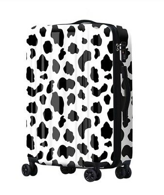 E417 Lock Universal Wheel Black Spot ABS+PC Travel Suitcase Luggage 24 Inches W