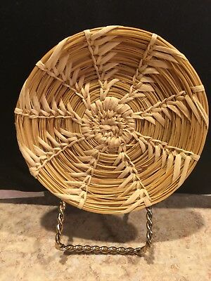 Handcrafted American Indian basket made by Papago Indians of Southern Arizonia