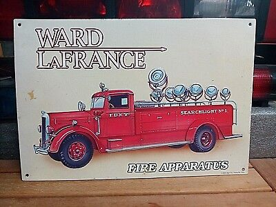 Assorted Metal Fire Truck Signs