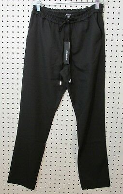 Shinestar Juniors' Pull On Drawstring Tapered Pants - Size Small - Black