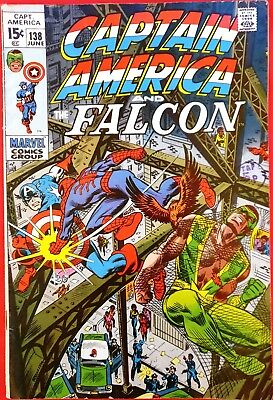 CAPTAIN AMERICA 138 Marvel Bronze Age 1971 Spiderman appearance f/vf
