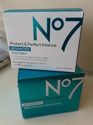 Set of 2 No. 7 Protect & Perfect Day and Night Anti Aging Cream Brand New