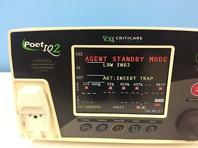 POET IQ2 by Criticare Anesthesia Multi gas Monitor