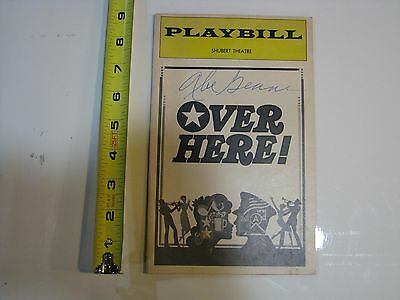 Abe Beame Autograph Signature Over There Playbill NYC Mayor New York City