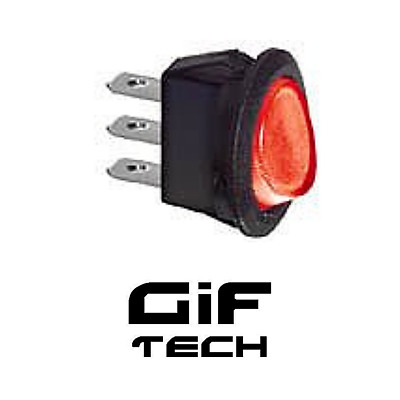 Interruttore Luminoso 19 Mm 220V 10 A On/Off Pulsante Rosso I/O Pulsante Saldare