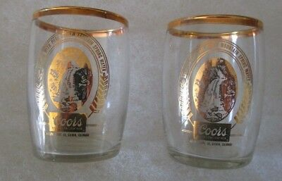 Set of 2 Coors Brewing Co. 4oz. Beer Sampling Glasses