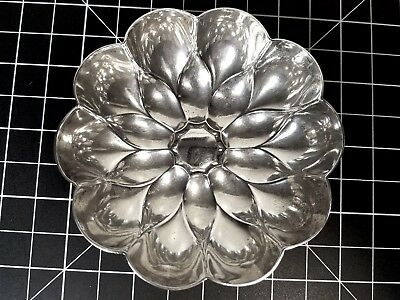 Vtg Tiffany & Co. Makers Lotus Flower Dish Bowl Sterling Silver .925s Ornate