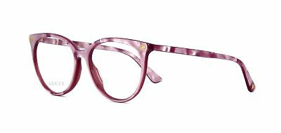 4b1307165f New Authentic Gucci Frame GG0093O 004 Pink Optical Eyeglasses Frame Size  53mm