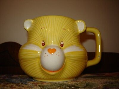 Vintage 1984 Care Bears Funshine Bear Face Mug American Greetings EUC