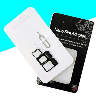 10 Pack Nano SIM Card to Micro Standard Adapter Converter Set For Samsung iPhone