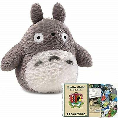 Totoro Plush Combo Set with Studio Ghibli Hayao Miyazaki 17 Movie collection DVD