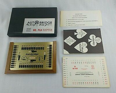 Vintage 1959 Auto Bridge Game Luxury Deluxe Pocket Model PLB Booklet Cards