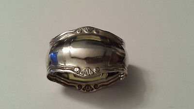 Vintage Brazilian Signed Eberle Silverplated Napkin Ring