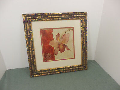 """Kohl's Images Blum Chino Wall Art Matted Flower Picture w/Metal Frame 15""""x15"""""""