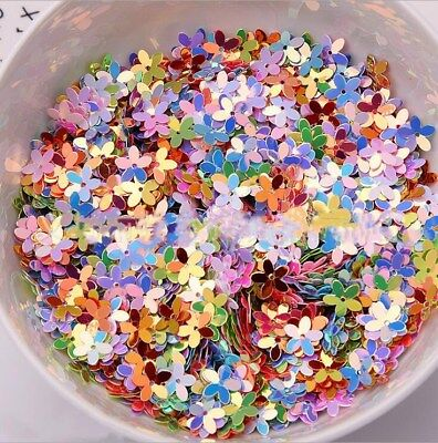 300X Concave Flower shape Pvc Sequins DIY Sewing Stage Clothes Accessories 10mm