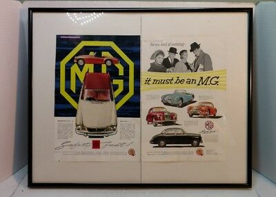 Framed MG Advertising Ad Picture - 1959 1957 Magnette MGA Varitone