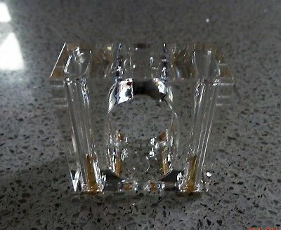 Salt Pepper Shakers Napkin Rings Crystal Clear Us Acrylic Set 4 Modern Retro